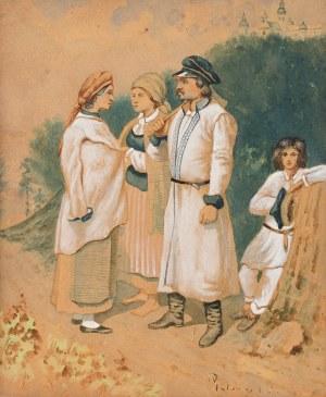 Wojciech Gerson (1831 Warszawa – 1901 tamże) Wieśniacy z okolic Sandomierza, 1854 r.