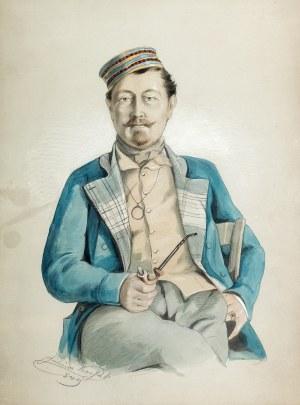 Juliusz Kossak (1824 Nowy Wiśnicz – 1899 Kraków) Portret Adama Hr. Potockiego z Buczacza, 1849 r.