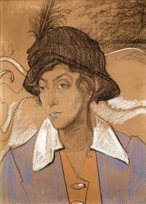 Stanisław Ignacy Witkiewicz (1885 Warszawa – 1939 Jeziory na Polesiu) Portret Wandy Marii Skarżyńskiej z d. Romm, 6 I 1917 r.