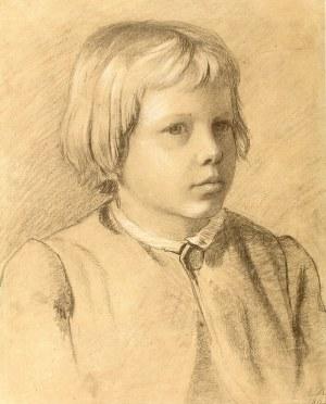 Antoni Kozakiewicz (1841 Kraków – 1929 tamże) Portret chłopca, 1876 r.