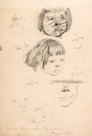 Józef Mehoffer (1869 Ropczyce k. Lwowa – 1946 Wadowice) Córeczka Kazimierza Stryjeńskiego, 1893 r.