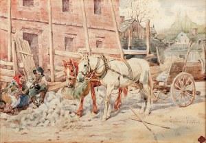 Juliusz Kossak (1824 Nowy Wiśnicz – 1899 Kraków) Południowy odpoczynek, 1886 r.