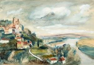 Henryk Hayden (1883 Warszawa – 1970 Paryż) Pejzaż z rzeką, lata 30-te XX w.