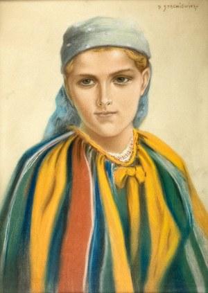 Piotr Stachiewicz (1858 Nowosiółki/Podole – 1938 Kraków) Portret Zosi
