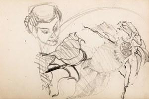 Włodzimierz Tetmajer (1862 Harklowa – 1923 Kraków) Szkice – głowa i kwiat