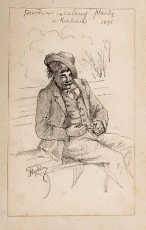 Tadeusz Rybkowski (1848 Kielce – 1926 Lwów) Mężczyzna na ławce, 1898 r.