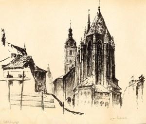 Jan Rubczak (1884 Stanisławów – 1942 Auschwitz) Widok na kościół Mariacki od wschodu, 1934 r.