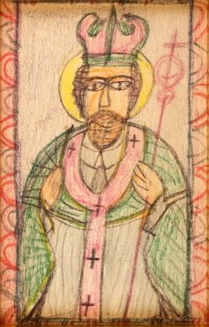 Nikifor Krynicki (1895 Krynica – 1968 Folusz) Wizerunek Świętego
