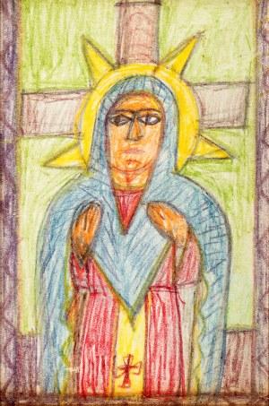 Nikifor Krynicki (1895 Krynica – 1968 Folusz) Wizerunek Matki Boskiej