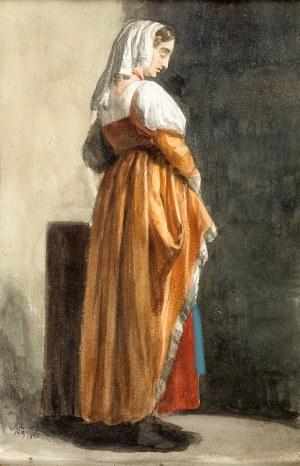 Walery Eljasz-Radzikowski (1841 Kraków – 1905 tamże) Stojąca kobieta, 1882 r.