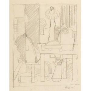 Marek Włodarski (Henryk Streng) (1903 Lwów – 1960 Warszawa) Martwa natura z wagą i z dzbankiem na stole, 1925 r.