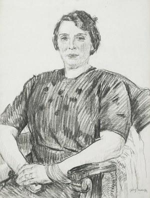 Józef MEHOFFER (1869-1946), Portret kobiety