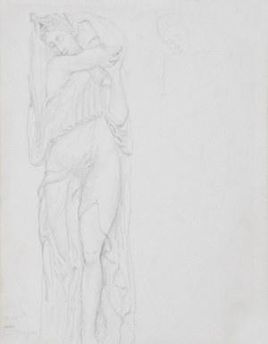Tadeusz MAKOWSKI (1882-1932), Płaskorzeźba Jeana Goujona - rysunek ze szkicownika artysty