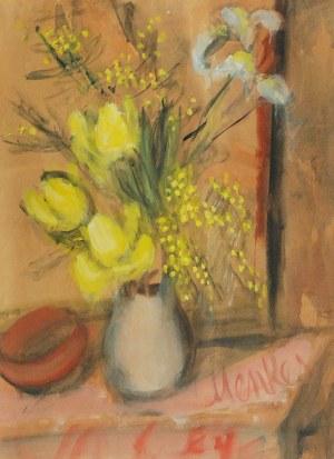 Zygmunt MENKES (1896-1986), Bukiet kwiatów w wazonie
