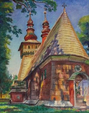 Stanisław ŻURAWSKI (1889-1976), Drewniany kościółek z kapliczką