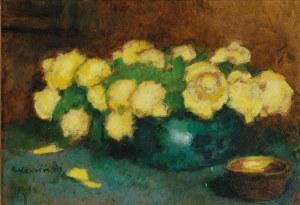 Alfons KARPIŃSKI (1875-1961), Róże żółte