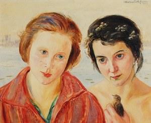 Wlastimil HOFMAN (1881-1970), Agnieszka ze swoją patronką, 1929