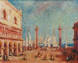 Malarz nieokreślony, XX w., Wenecja - Plac św. Marka