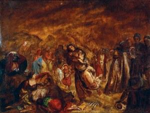 Izydor JABŁOŃSKI (1835-1905), Scena historyczna orientalna