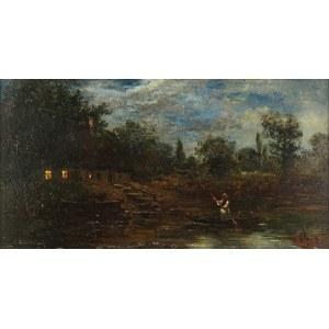 Seweryn BIESZCZAD (1852-1923), Wieczorny połów
