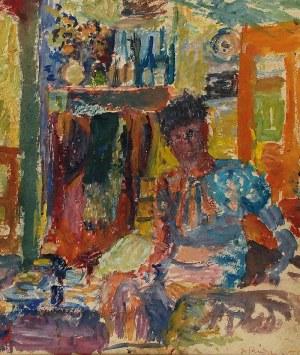 Hanna RUDZKA-CYBISOWA (1897-1988), Portret we wnętrzu