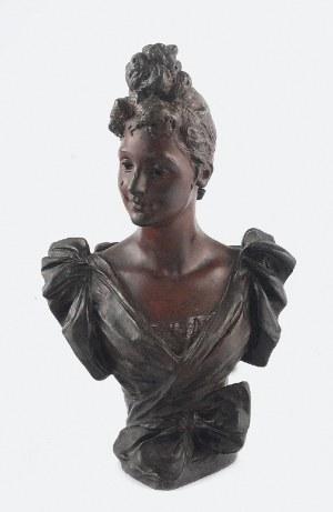 George VAN DER STRAETEN (1856-1928), Popiersie kobiety z kokiem
