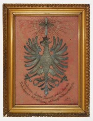 Panneau z haftowanym Orłem - pamiątka historyczna