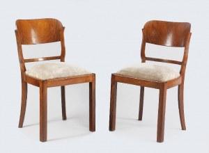 Komplet sześciu krzeseł w stylu art déco