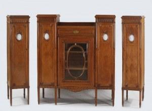 Serwantka i para szafek - słupków w stylu klasycystycznym