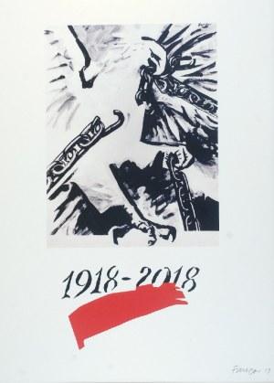 Wojciech FANGOR (1922-2015), Projekt Plakatu na 100-lecie odzyskania przez Polskę niepodległości