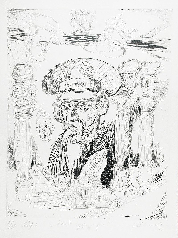 Edward DWURNIK (1943-2018), Niech żyje wojna!, ok. 1991