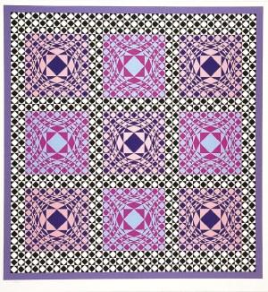 Victor VASARELY (1906-1997), Kompozycja geometryczna