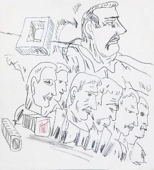 Edward DWURNIK (1943-2018), Para rysunków, 1990