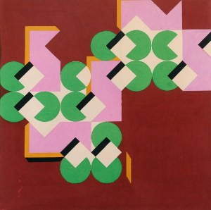 Tadeusz GRONOWSKI (1894-1990), Kompozycja geometryczna, lata 70. XX w.