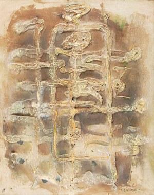 Tadeusz ŁAPIŃSKI (1928-2016), Figura osiowa, ok. 1958