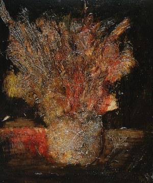 Henryk HOLECKI (ur. 1928), Suche kwiaty w wazonie, 1987