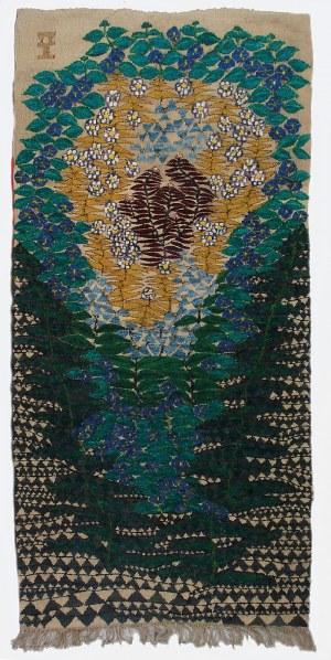 Wanda HOŁOSZKIEWICZ (1927-2004), Tkanina unikatowa - Kwiatek, 1955