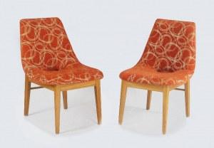 Hanna LACHERT (ur. 1927) - projektant, Komplet trzech foteli typu: Muszelka, projekt z 1956