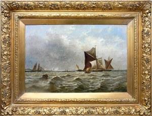 Thomas Bush-Hardy (1842 Sheffield–1897 Londyn) Żaglowce na morzu