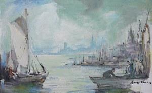 Marian Mokwa (1889 Malary - 1987 Sopot) Port