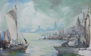 Marian Mokwa (1889 Malary - 1987 Sopot) Port