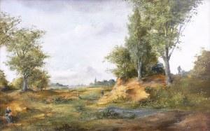 Peter Götz Pallmann (1908 Berlin - 1966) Pejzaż ze sztafażem
