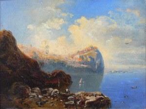 Artysta nieokreślony (XIX/XX w.) Pejzaż śródziemnomorski
