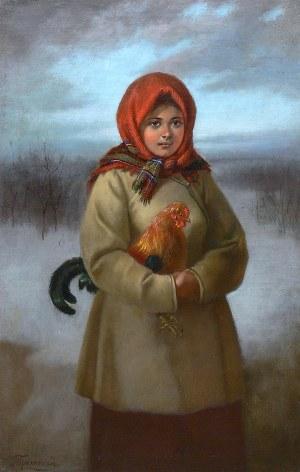 Aleksiej Trankowskij (XIX/XX wiek) Dziewczyna z kogutem