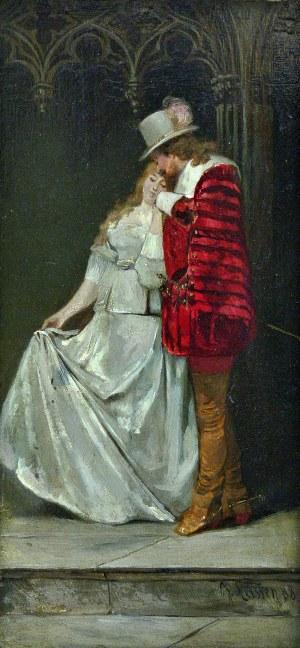 Jacobus Leisten (1844 Düsseldorf - 1918 tamże) Scena romantyczna, 1888 r.