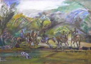 Zdzisław Kałędkiewicz (1913 Częstochowa – 2005 Gdańsk) Jeźdźcy w lesie