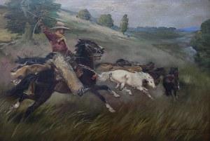 Jerzy Kossak (1886 Kraków - 1955 tamże) Na prerii