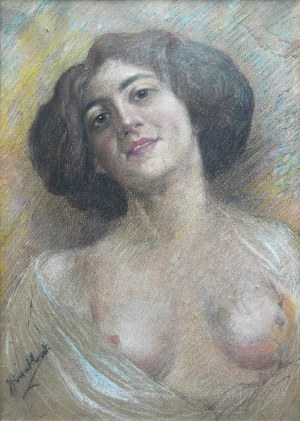 J. Kwiatkowski (XX w.) Portret kobiety