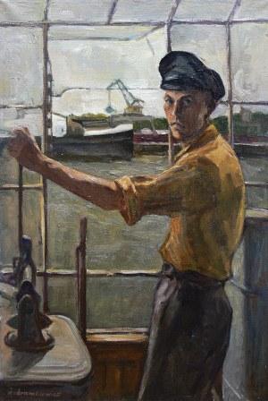 Kazimierz Śramkiewicz (1914 Poniec - 1998 Gdańsk) Dźwigowy, 1954 r.