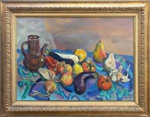 Walter Spitzer (ur. 1927 r.) Martwa natura z bakłażanami